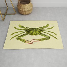Vintage Green Crab Rug