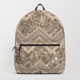 Sepia Glitter Chevron #1 #shiny #decor #art #society6 Backpack