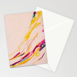 Miss Marmalade Rose - Abstract painting by Jen Sievers Stationery Cards