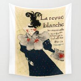 Belle Epoque vintage poster, La Revue Blanche Wall Tapestry
