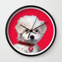valentine Wall Clocks featuring Valentine by Herzensdinge