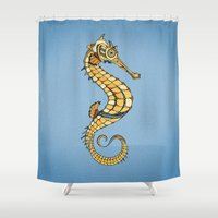 seahorse Shower Curtains featuring Seahorse by Andreas Preis