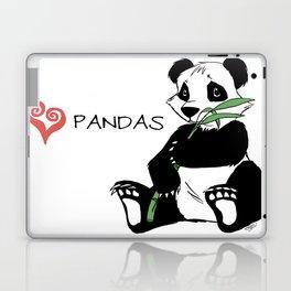 I Love Pandas Design Laptop & iPad Skin