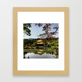 Kinkaku-ji Temple (Japan) Framed Art Print
