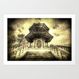 The Pagoda Battersea Park London Vintage Art Print