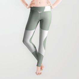 Large Polka Dots: Neutral Green Leggings