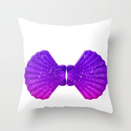 Funny Mermaid Shell Bra Top graphic Festival Seashell Party Throw Pillow