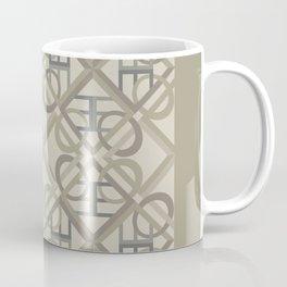Interlaced Love Mandala Tiled - Warm Neutral Coffee Mug