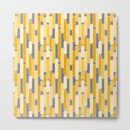 Modern Geometric Tabs in Yellows and Gray Metal Print