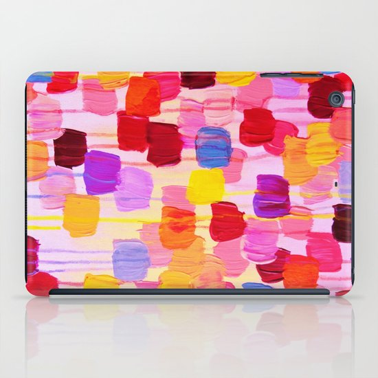 DOTTY in Pink - October Special Revisited Bold Colorful Square Polka Dots Original Abstract Painting iPad Case