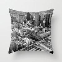 melbourne Throw Pillows featuring Melbourne by kazmcart