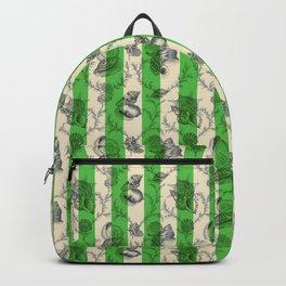 Stripes & Shells - green Backpack