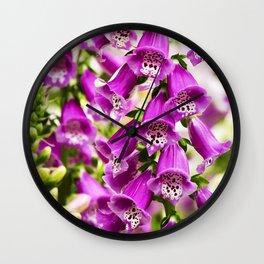Foxglove Flowers Wall Clock