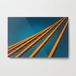Trần Thị Lý Suspension Bridge in Da Nang, Vietnam Metal Print