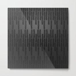 Eye of the Magpie tribal style pattern - dark grey Metal Print
