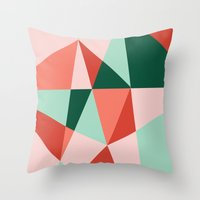 gem Throw Pillows featuring Gem by lizzy gray kitchens
