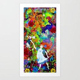Down the Rabbit Hole Art Print