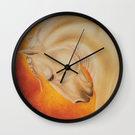 Fire Lusitano Horse oil Painting Wall Clock