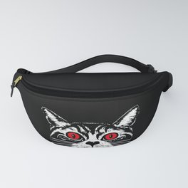 Satanic Cat Spooky Halloween print Evil Gift For Cat Lover Fanny Pack