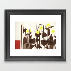 abstract blurred figures Framed Art Print