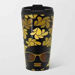 Afro Diva : Gold Travel Mug