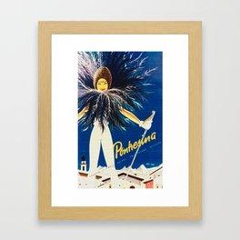 Vintage Travel Pontresina Switzerland Framed Art Print
