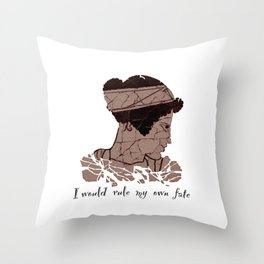 I Would Rule my Own Fate - Helen of Sparta Throw Pillow