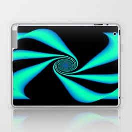 Abstract. Turquoise+Black. Laptop & iPad Skin