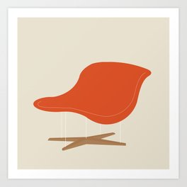 Orange La Chaise Chair by Charles & Ray Eames Art Print
