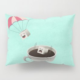 Sugar Cubes Jumping in a Cup of Coffee Pillow Sham