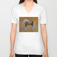 pony V-neck T-shirts featuring Gypsy Pony by Michael Creese