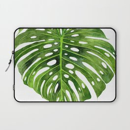 Jungle Leaf Monstera Deliciosa Laptop Sleeve