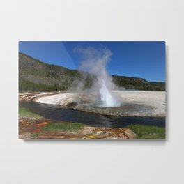 Thermal And Geyser Field Yellowstone NP Metal Print