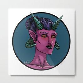 Demon Portrait Series - 001 Metal Print