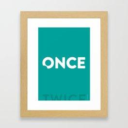 Once Bitten, Twice Shy - Turquoise Framed Art Print