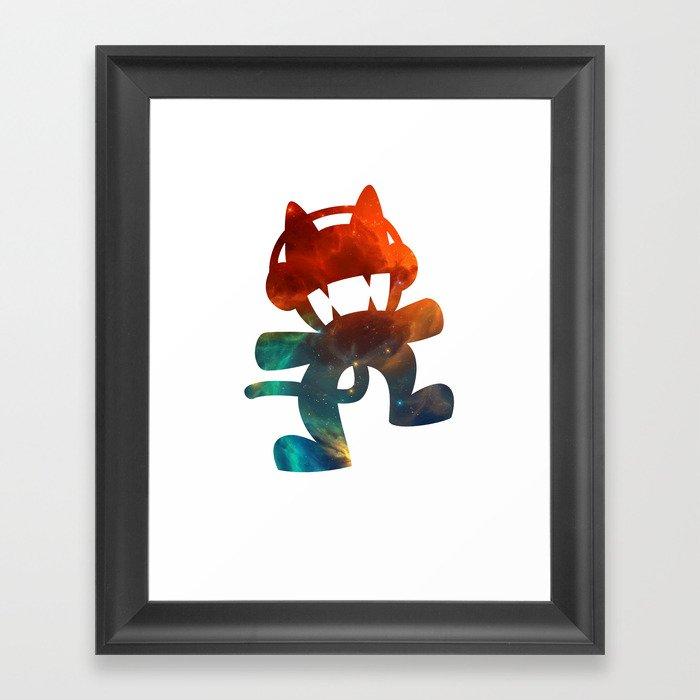 73b91f7ef2d8 Monstercat galaxy - minimal Framed Art Print by alexnolasco