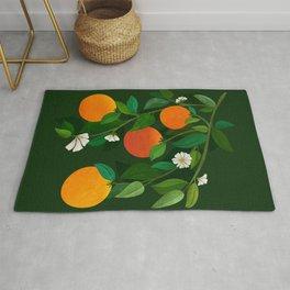 Oranges and Blossoms / Botanical Illustration Rug