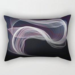 Moody & Beautiful Smoky lacy flux - black, blue, pink #abstractart Rectangular Pillow