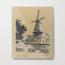 Molen de Adriaan, Haarlem Metal Print