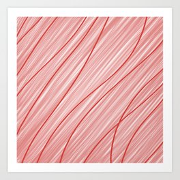 Peppermint Stripes Red and White - Digital Painting Art Print
