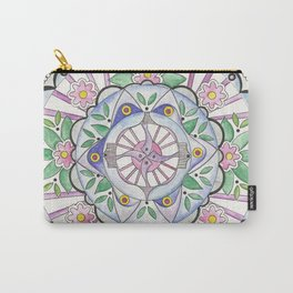 Mandala Floribunda Carry-All Pouch