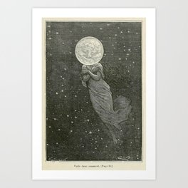 Antique Moon Woman Kunstdrucke