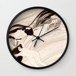 """Gustav Klimt """"Fish Blood"""" Wall Clock"""