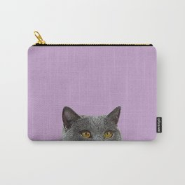 Lavender Home Decor Lilac Decoration British Short haired Cat Bag Pastel Colors Carry-All Pouch