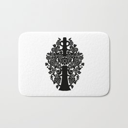 Life tree black Bath Mat