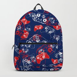 Video Game Red White & Blue 2 Backpack