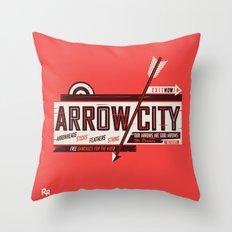 Arrow City Throw Pillow