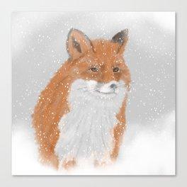 Winterfox Canvas Print