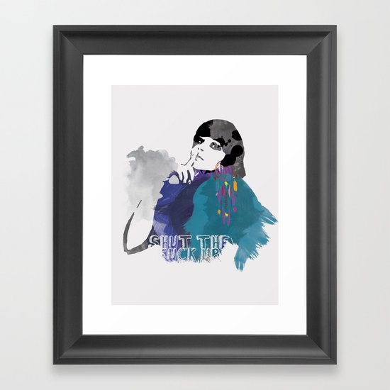 Would You Please Framed Art Print