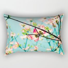 Aqua Spring Rectangular Pillow